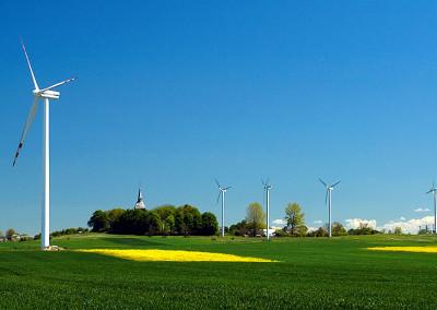 Die Windkraftanlage in Cisowo